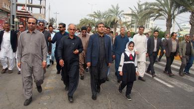 تصویر از حضور پرشور کارکنان دانشگاه بین المللی چابهار در راهپیمایی ۲۲ بهمن