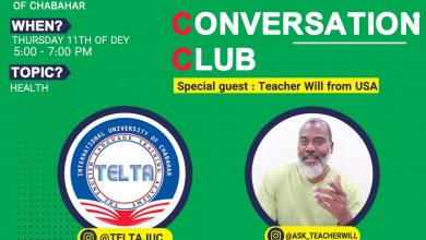 تصویر از نشست چهارم باشگاه مکالمه زبان تلتا دانشگاه بین المللی چابهار