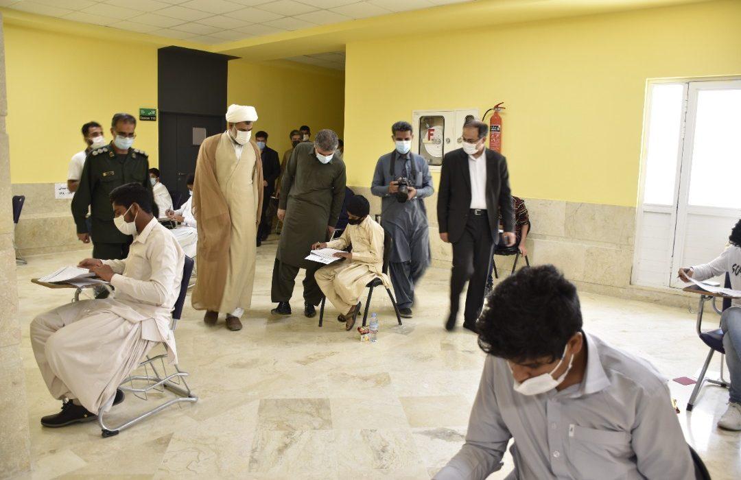 آزمون جذب دانشآموزان بورسیه تحصیلی در چابهار برگزار شد