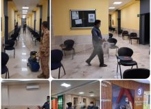 ضدعفونی محل های آزمون سراسری در دانشگاه بین المللی چابهار
