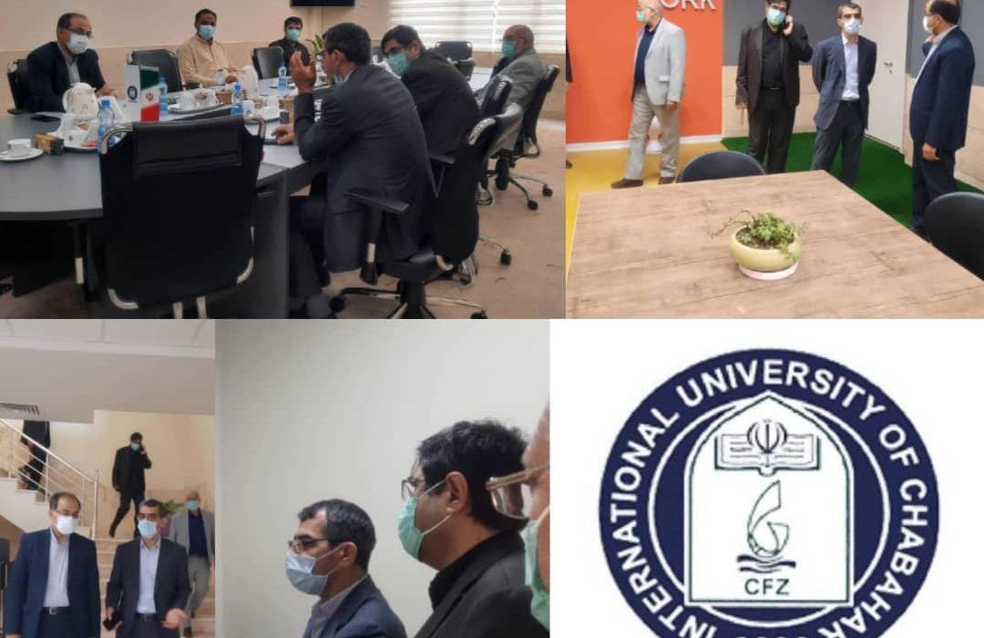 بازدید سردار بهشتی به همراه عضو محترم هیات مدیره سازمان منطقه آزاد چابهار از دانشگاه بین المللی چابهار